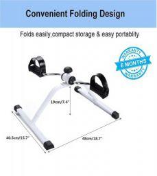 YOZO Fitness Cycle - Foot Pedal Exerciser - Foldable Portable Foot, Hand, Arm, Leg Exercise Pedaling Machine - Folding Stationary Bike