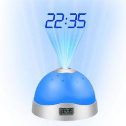 ADTALA Best Design Colorful Projection Clock Star Sky Night Light Led Magic Digital Starry, Clock Projection - Childs Clock, Thermometer Projector, Projector Clock, Alarm Clock, Flat Led Clock