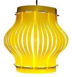 Lexton DPL-20 -Matki Stripped Lampshade (Yellow)