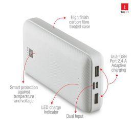 iBall 20000 mAh Powerbank IB-20000LP, Sturdy Dual USB Output