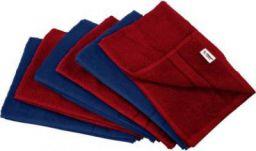 Flipkart SmartBuy 340 GSM Hand Towels (Pack of 6, Blue, Maroon)
