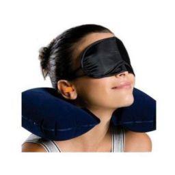 BrioBright 3 in 1 Travel Pillow, Eye Mask, Ear Buds