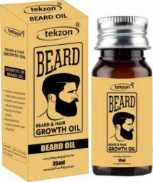 tekzon Powerfull Beard Hair Growth Oil (Blend of 10 Natural Oils) Hair Oil  (35 ml)
