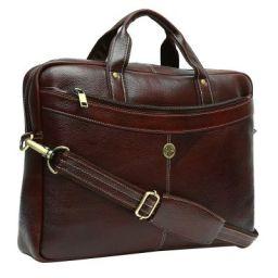Hammonds Flycatcher 15.6 inch Genuine Leather Latest Design Office Messenger Laptop Organizer Bag