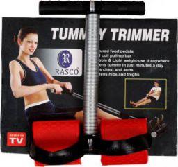 RASCO SINGLE STEEL SPRING RED TUMMY TRIMMER Ab Exerciser  (Red)
