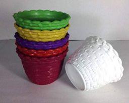 GARDENS NEED 110030 Plastic Star Pot Set (6-Pieces)