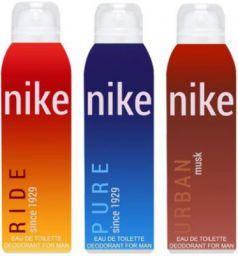 Nike Ride Pure Urban Musk Deodorant Spray - For Men  (600 ml, Pack of 3)