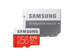 Samsung Evo Plus 256 GB MicroSDXC Class 10 90 MB/s Memory Card  (With Adapter)