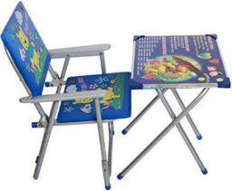 M/s AVANI TRADING & MFG CO. Iron Kid's Table Chair Set (Blue, 70 x 60 x 40 cm)