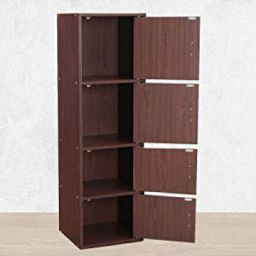 HomeTown Albert Engineered Wood Multipurpose Cabinet in Walnut & Cherry Brown Colour