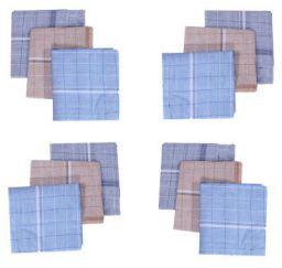 Kuber Industries Cotton 12 Piece Men's Handkerchief Set - Multicolour (CTKTC05640)