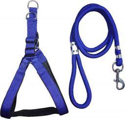 Skora Dog Collar & Leash (Large, Blue)