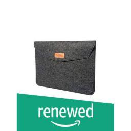 (Renewed) TIZUM 15.6-Inch Felt Laptop Sleeve (Slate Grey)
