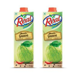Real Fruit Juice, Masala Guava, 1L (Pack of 2)