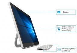 LifeDigital Zed PC 17.3-inch Touch Screen Portable All-in-One Desktop (Intel Celeron/3GB RAM/500GB HDD/Built-in Battery/Windows 10 Home), Silver