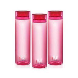 Cello H2O Round Plastic Water Bottle, 750ml, Set of 3