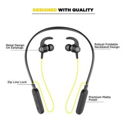 Nu Republic Rebop 2 in-Ear Bluetooth Neckband Earphones with Vibration Notification