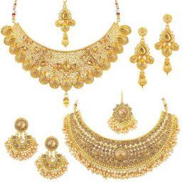 Sukkhi Jewellery Set for Women (Golden) (CB73381)