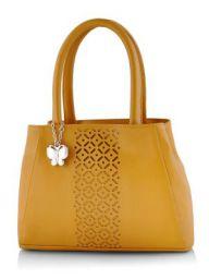 Butterflies Women's Handbag (Mustard) (BNS 0586MSD)