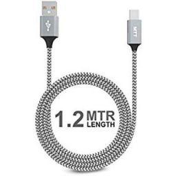 MTT 1.2m Nylon Braided Tangle Free USB Type C