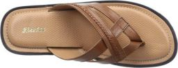 BATA Men's Bent Leather Hawaii Thong Sandals