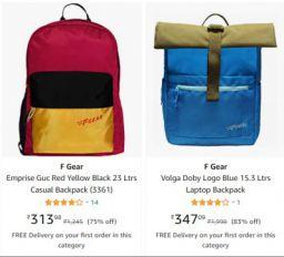 Backpacks at Minimum 74% Off