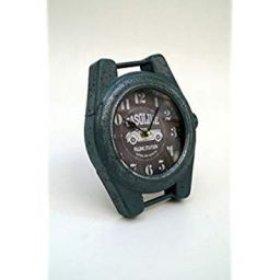 Tu Casa Vintage Table Clock Metal (19.98 cm x 5 cm x 23.01 cm, Green)