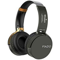FIADO Extra BASS Noise Cancellation Wireless Headset AZ-008 3D Stereo Wireless Bluetooth Headphone with MIC (Black, Over Ear)