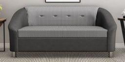 Mexico 2 Seater Sofa in Black & White colour by Furnitech