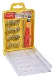 IZOM 6032 32 in 1 Precision Screwdriver Set (Yellow, Chrome Finish, 31-Pieces)