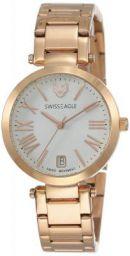 Swiss Eagle Analog White Dial Women's Watch - SE-9119-22