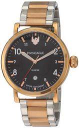 Swiss Eagle Analog Black Dial Women's Watch-SE-9121-77