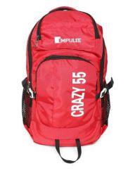 Impulse Waterproof Travelling Trekking Hiking Camping Bag Backpack Series 55 litres Red Crazy Rucksack