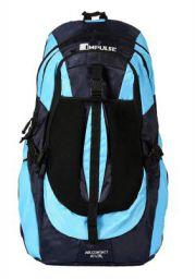 Impulse Waterproof Travelling Trekking Hiking Camping Bag Backpack Series 65 litres Blue Air Contact Rucksack