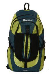 Impulse Waterproof Travelling Trekking Hiking Camping Bag Backpack Series 65 litres Green Air Contact Rucksack