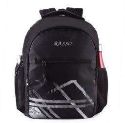 RASSO Classic laptop backpack 30 LTR(BLACK) 30 L Laptop Backpack  (Black)