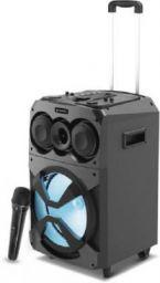 Sansui BassBlast TWS, Karaoke Compatible, Mega Bass, In-built Battery, Disco LED 50 W Bluetooth Party Speaker (Black, 2.0 Channel)
