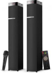 Sansui WaveBlast 1 Karaoke Compatible, High Bass, Touch Sensor 54 W Bluetooth Tower Speaker (Black, 2.0 Channel)