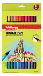 Camlin Kokuyo Brush Pens, 24 Shades (Multicolor)