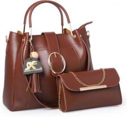 Speed X Fashion Women Brown Hand-held Bag Brown