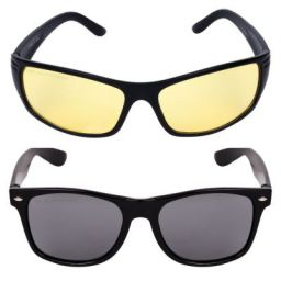 Criba Gradient Aviator Unisex Sunglasses - (nd yl+pknk_CRLK03 40 Black Color Lens)
