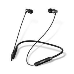 Lenovo HE05 Wireless Bluetooth Neckband Earphone,5.0 Earbuds in-Ear Deep Bass Headphones, Magnetic Earphones with Mic ( Cvc6.0, IPX6)