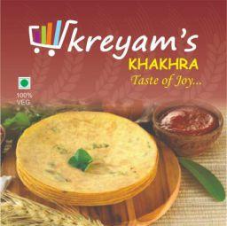 Kreyam's Tasty and Crispy Khakhra for Snacks (Kothmir Chilli, 480gm)