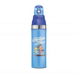 Milton Kool Stunner Inner Steel Water Bottle for Kids (810 ML, Blue)