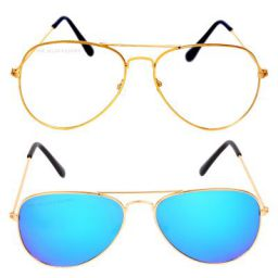 Criba Gradient Butterfly Unisex Sunglasses - (gold wt+gbl_CRLK|40|Black Color Lens)