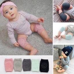 Seaspirit Baby Crawling Knee Pad Non-Slip Knee Pads Point Glue Non-Slip Crawling Socks (set of-01) Multicolor Baby Knee Pads (new)