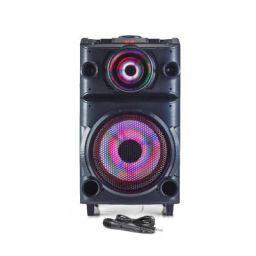 Blaupunkt PS100 Volcano 100 DJ Panel Party Speaker with Battery & Wheels (Black)