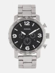 Fossil NATE Men Black Analogue Watch JR1353