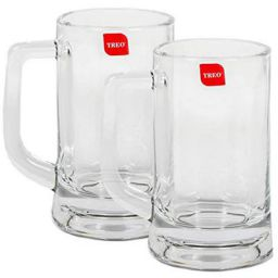 Treo By Milton Munich Cool Beer Mug Set, 359ml, Set of 2, Transparent