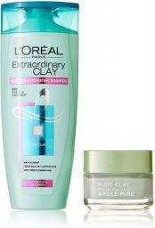 L'Oreal Paris Pure Clay Mask, Eucalyptus, 48g with Extraordinary Clay Shampoo, 175ml